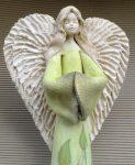Anioł szamotowy ręcznie malowany - 45cm