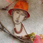 "Dekor ""Modigliani"" relief 25 cm"