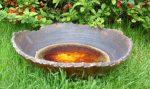 """Misa ceramiczna """"postrzępiona"""" śr. ok. 40cm"""