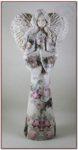 Anioł stojący decoupage wys. 35 cm