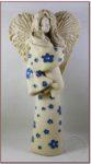 Anioł z dzieckiem szkliwiony 35cm