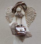 Anioł z torebką 2 - wys. 35cm
