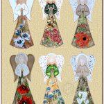"""Anioł wiszący 27cm """"Kwiaty"""", Kod A1Z-0127"""