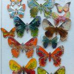 Ceramiczne motyle wiszące: 12x8cm, 14x10cm, 21x17cm