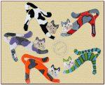 Kot szamotowy wiszący 30cm