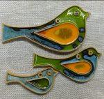 Ptaszki ceramiczne wiszące- 3 wielkości