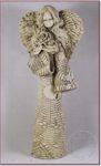 """Anioł stojący """"z  bukietem"""" wys. 35cm"""