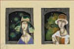 """Wieszaki na klucze """"Modigliani"""""""