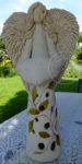 Anioł ażurowy malowany z szamotu płukanego 55-60cm