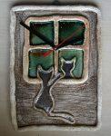 """Zegar z kotkiem """"duży""""- 25x20cm"""